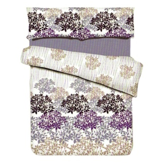 Zover Printed Cotton Beddings Set Queen-Size Loveliness Bedsheet(1pc Fitted Sheet+2pc Pillowcase+1pc Flat Sheet) 4-piece Set(BEDSHEET4PC-L)
