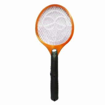 Zover Rechargeable Electronic Mosquito Insect Bug Fly ZapperSwatter Net Racket (Orange)