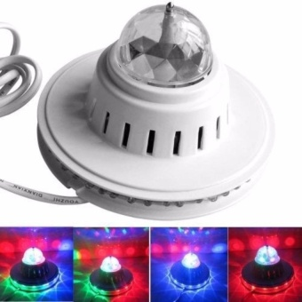 Zover Small Sunflower LED Stage Light Rotating RGB DJ Bar Disco Party Magic Crystal Lighting (White)