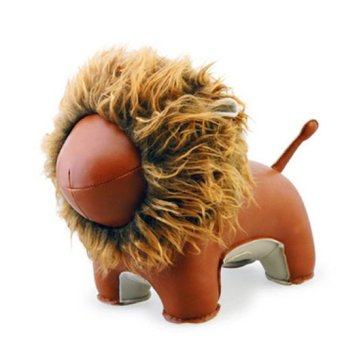 Zuny Series Lion Lino Bookend (Brown)