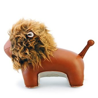 Zuny Series Lion Lino Bookend (Brown) - 3