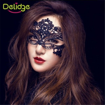 1 pc Women Black Sexy Lace Mask Party Mysterious Retro Lady Eye Mask For Masquerade Party Fancy Dress Venetian Costumes - intl