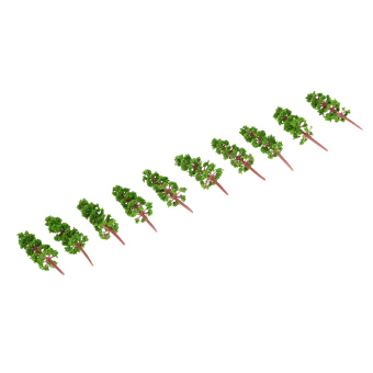 100 Pieces Plastic Model Trees Architectural Model Railroad LayoutGarden Landscape Scenery Doll Weddings Diorama Miniatures (Intl) -Intl Price Philippines