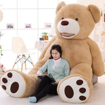 100cm-200cm America Giant Teddy Bear Plush Toys Soft Teddy BearSkin Popular Birthday & Valentine's Gifts For Girls ,Kid's Toy- intl