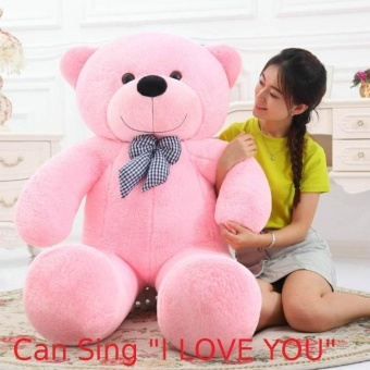 100CM Mile Can Say I Love You Birthday Gift Cute Lovely Pink Stuffed Toys Animal Teddy Bear Plush Soft Toy - intl