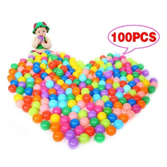 100Pcs Colorful Ball Ocean Balls Soft Plastic Ocean Ball Baby Kid Swim Pit Toy - intl Price Philippines