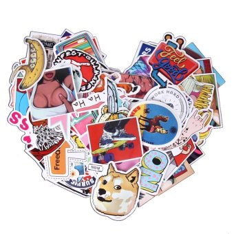 100pcs Doodle DIY Sticker Graffiti Decal Sticker for Laptop Bicycle- intl