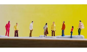 100pcs Painted Model Train People Figures Scale TT (1 to 100) - 3
