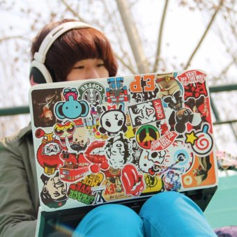 100Pcs Skateboard Stickers Graffiti Laptop Sticker Luggage Car BikeDecals Decor - intl