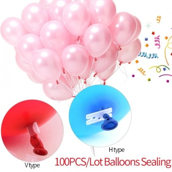 100PCS/Lot Balloons Sealing Clip Ballon Buttons Clips WeddingBirthday Party Decorations(H) - intl
