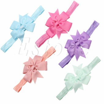 10/20Pcs Newborn Toddler Girl Baby Headband Lot Elastic Hair bowHeaddress - intl - 2