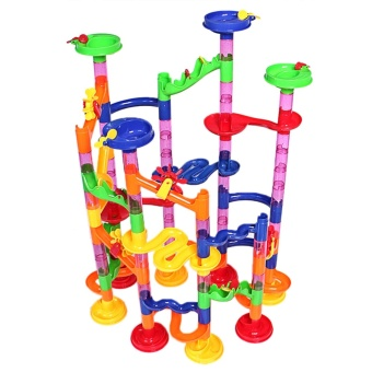 105Pcs Kids DIY Marble Run Railway Toys Set Building Blocks ToysEarly Education Accessories for over 5 years old Children - intl - 4