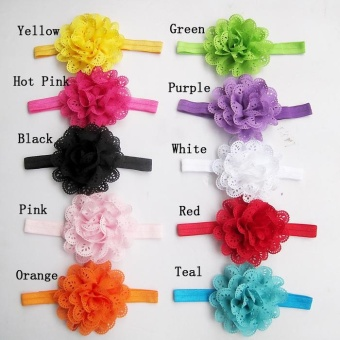 10Pcs/Pack Baby Girls Headbands Newborn Toddler Hollow Out Flower Headdress Specification:A pack of 10 - intl