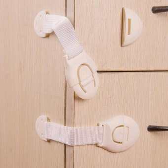 10set/lot baby safety lock infant door and drawer baby safe lock - intl