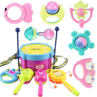 11PCS/Set Baby Intelligence Toys Rattles and Teether Jingle BallRing Baby Rattles Toys - intl