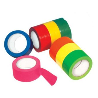 12 Pcs. DIY Sticky Adhesive Sticker Decorative Assorted Color NeonScotch Tape