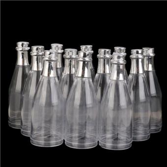 12pcs Champagne Bottles Candy Bottle Box Shower Party Favors (Transparent) - 5
