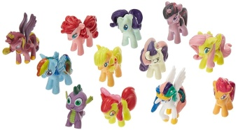 12PCS My Little Pony Cake Toppers Cupcake Toys Figurines Playset -intl