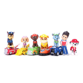 12PCS/Set PAW Patrol Dog Mini Figures Illuminative Toys Play Set Gift Puppies - intl Price Philippines