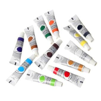 12x Acrylic Colour Water Colour Pigment Set For Art DrawingPainting Craft 12ml - intl