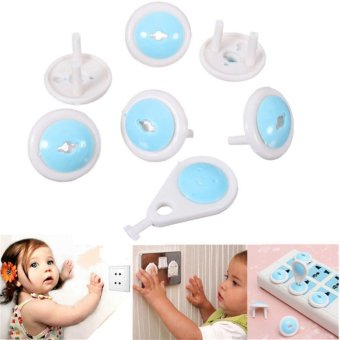 14pcs/set Child Electric Socket Outlet Plug Two Phase Safe LockCover for Baby Kids Safety - intl
