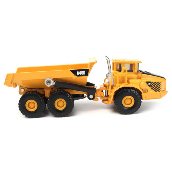 1:87 Scale Alloy Diecast Dump Truck Construction Vehicle Cars Lorry Toys Model