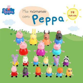 19PCS Peppa Pig Muddy Puddles Figure Set Friend Action Figures Kids Toys Gift - intl