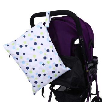 1Pc New Portable Cloth Nappy Wet Bag Washable Reusable Baby DiaperPouch (#5) - intl