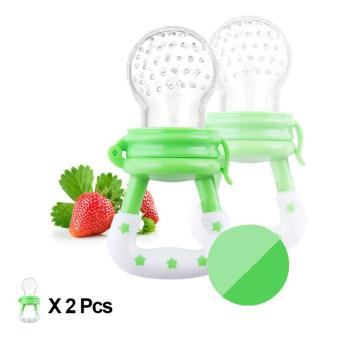 2 Pcs Baby Pacifier Fruits And Vegetables Nipple Green (Intl) - Intl