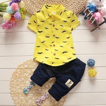 2017 New Arrival 2pcs/Set Polo Shirts Clothing Set for ChildrenKids Boys 80cm - intl - 2