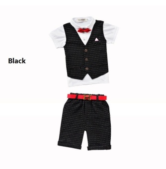 2017 Summer Baby Suit Gentleman Boys Clothing European Style BabyBoy Formal Dress Wedding Suits Birthday Party Costume - intl