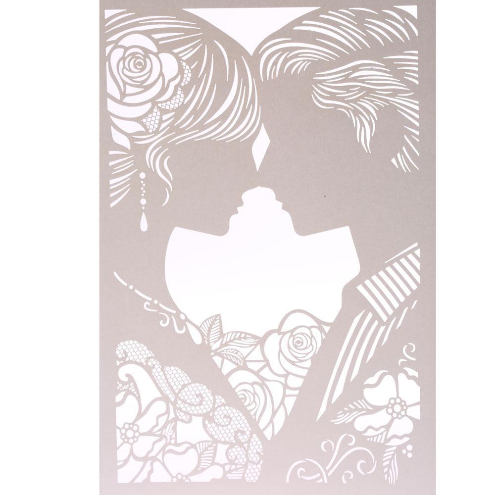 Philippines | 20pcs Romantic Laser Cut Wedding Invitation Card Bride ...