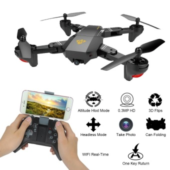 2.4G 4-Channel 6Axis Altitude Hold HD Camera RC Drone SelfieFoldable Black - intl Price Philippines