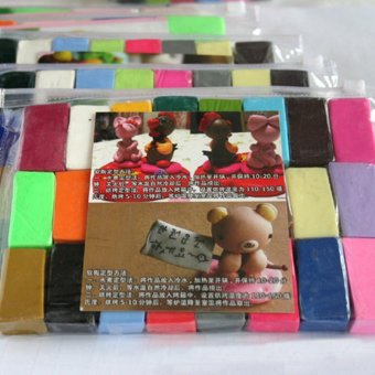 24pcs DIY Malleable Fimo Polymer Modelling Soft Clay BlocksPlasticine Multicolor - intl Price Philippines