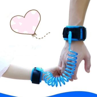 2.5m Adjustable Kids Safety Anti-lost Wrist Link Band ChildrenBracelet Wristband Baby Toddler Harness Leash Strap(Blue)