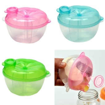 2Pcs Food Storage Container 3-Layer Milk Powder Box Baby Feeding - intl - 5