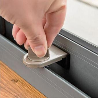 2PCS Security Sliding Stopper Door Window Safety Sash LockRestrictor Catch Tools - intl - 4