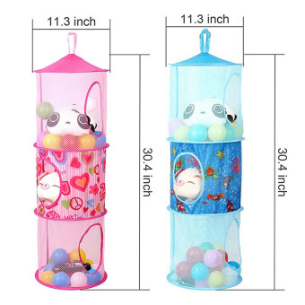 ... 2pcs Set New Hanging Mesh Storage Basket Toys Organizer 3 Compartments    Intl   4 ...