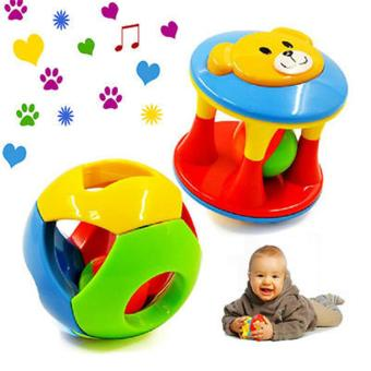 2PCS/Set Baby Intelligence Toys Rattles and Teether Jingle Ball Ring Baby Rattles Toys - intl