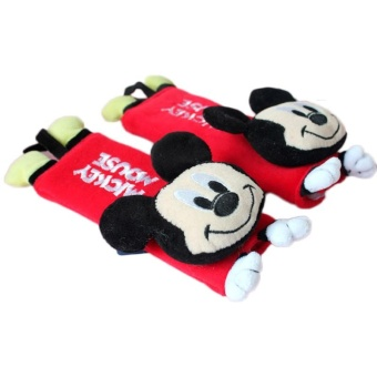 2pcs/set Universal Safety Design Multi Use Auto Car Seat Belt Cover Plush Seat Cushion - intl