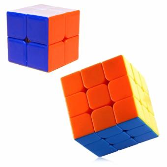 2x2 Red and 3x3 Rubik's Cube