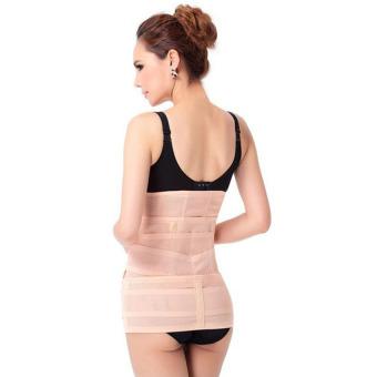 3 in1 Elastic Postnatal Waist Belt Postpartum Recovery Girdle Slimming Shapers Underwear L - intl - 2