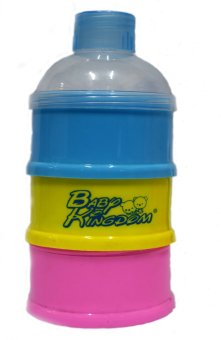 3 Layers Baby Kingdom Portable Infant Baby Milk Powder FormulaDispenser