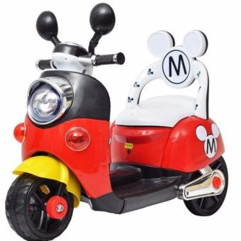 3 Wheeled Electric Powered Ride On Scooter for Kids (Red/Black)