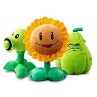 30cm Plants Vs Zombies Plush Decorations Toy Chomper New PlantssFigurine Pea Sunflower Melon Stuffed Plush Toy(Sunflower) - intl