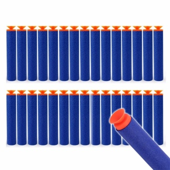 30pcs 7.2cm Refill Suction Bullet Darts for Nerf Series BlastersKid Toy Gun Blue Price Philippines