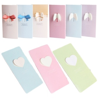 36 PCS Assorted Styles Colors 3D Greeting Cards Bowknot Wings HeartHoliday Blessing Cards with Envelop for Christmas Mother's DayBirthday Thanksgiving Day - intl