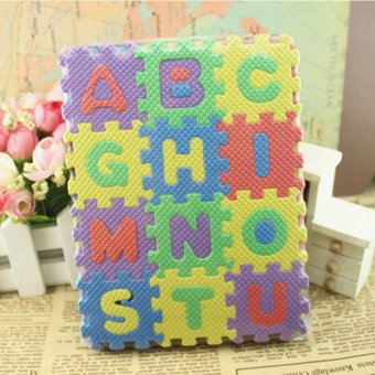 36 pcs Baby Kids Alphanumeric Educational Puzzle Blocks Infant PlayMat Child Toy Gifts - intl - 4