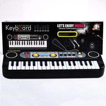 360DSC 37 Key Small Electronic Keyboard Piano Musical Toy MicRecords for Children 3737 - Black - intl Price Philippines