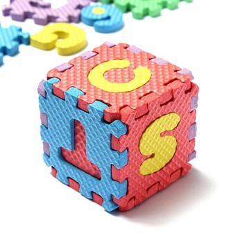 36Pcs Alphabet Number EVA Puzzle Foam Mats Baby Child Kids TeachingTools - intl